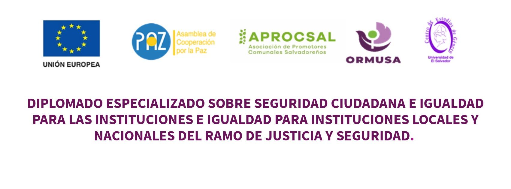 Diplomado especializado sobre seguridad ciudadana e igualdad para la instituciones locales y nacionales del ramo de justicia y seguridad