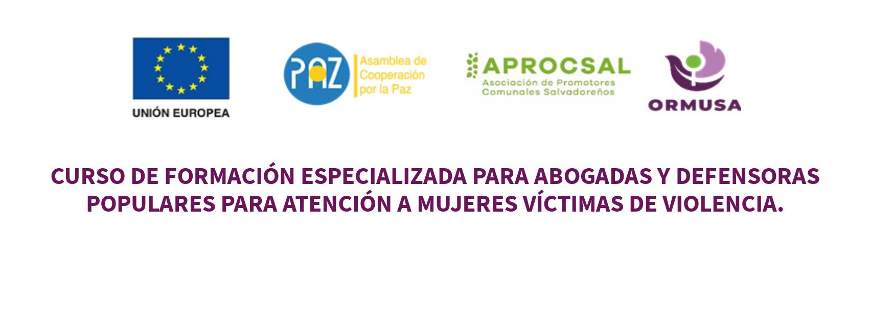 Curso de formación especializada para mujeres abogadas y defensoras populares para atención a mujeres víctimas de violencia